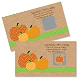 Big Dot of Happiness Pumpkin Patch - Fall or Halloween Party Game Scratch Off Cards - 22 Count