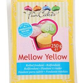 FunCakes Pasta di Zucchero Giallo - pacco da 250 grammi