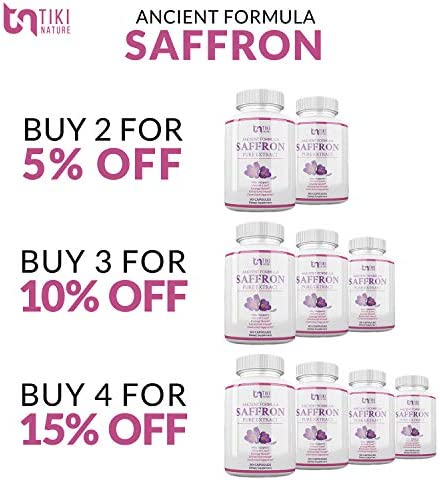 Saffron Extract Supplement 100mg - Powerful Appetite Suppressant for Weight Loss Eye & Heart Health Support - Organic Anti-Stress Energy & Mood Booster for Men & Women - 90 Veggie Pills 6