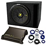 Single 12' Kicker CompC Sub Package with Kicker 11DX250.1 Refurbished Amp & Vented Enclosure