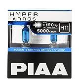 PIAA Hyper Arros 5000K +120% Light Car Headlight Bulbs H11 (Twin Pack) HE926