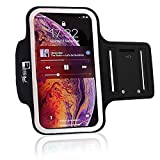 RevereSport Armband Compatible iPhone X / 10 with Face Recognition Access. Sports Phone Arm Case Holder for Running, Gym Workouts & Exercise