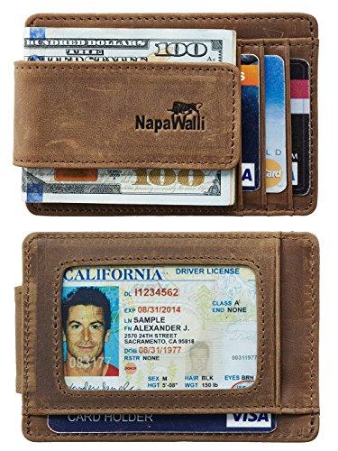 NapaWalli Genuine Leather Magnetic Front...