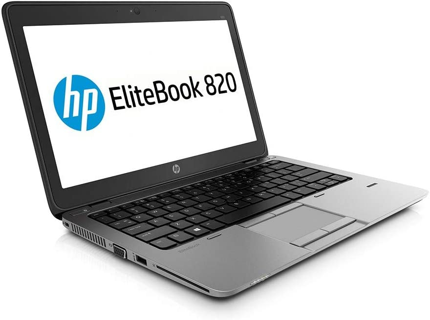 HP EliteBook 820 G2 - PC Portable - 12.5'' - (Core i5-5200U / 2.20 GHz, 8Go de RAM, Disque SSD 128Go SSD, WiFi, Windows 10, AZERTY Clavier) Modèle très Rapide (Reconditionné)
