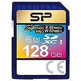 Silicon Power 128GB MLC High Endurance UHS-1 U3 Superior Pro SDXC Memory Card Up to 90MB/s (SP128GBSDXCU3V10)