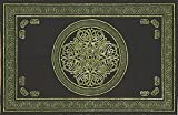India Arts Celtic Circle Tapestry-Bedspread-Wall Hanging-Green, Black Green,