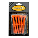 "ProActive Sports Consistent Tee 3 1/4"" Pack of 10 Durable, Biodegradable Tees for Perfect Height and Position (Orange)"