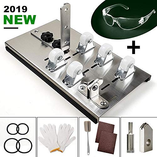 Souarts Glass Bottle Cutter Bottle Cutter Latest Version DIY Machine for Cutting Bottle to Craft Glasses Accessories Tool Kit Gloves Fixing Rubber Ring