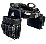 TradeGear LARGE 36-40' Electrician's Belt & Bag Combo – Heavy Duty Electricians Tool Belt...