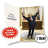Dancing Donald MOTION & SOUND Birthday Card - Donald Trump Dances in Celebration When Card is Opened - Includes 20 seconds of Trump's voice - Create Big Laughs - Funny Trump Gift - Happy Birthday