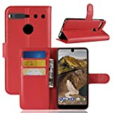 Essential Phone PH-1 Case Wallet, The Essential PH1 Cases, Essential Cell Phone Accessories, Essential PH 1 Protector Protective Flip PU Leather Protection Cover by Boonix (Red Wallet)