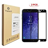 [2 Pack] Ytaland Screen Protector for Samsung Galaxy J4 2018, [ Full Glue ] [ Full Coverage ] [0.3mm, 2.5D] [Bubble-Free] [9H Hardness] [HD Clear] Tempered Glass Screen Protector