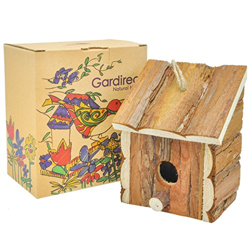 Gardirect-Wood-Decorative-Birdhouse-Hanging-Wooden-Garden-Bird-House