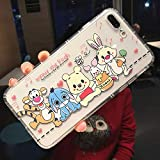 Maxlight Cute Cartoon Phone Cases for iPhone X XR XS MAX Winnie Pooh Tigger Piglet Eeyore Soft Clear Cover for iPhone 7 8 Plus Case (Style1, for iPhone XR)