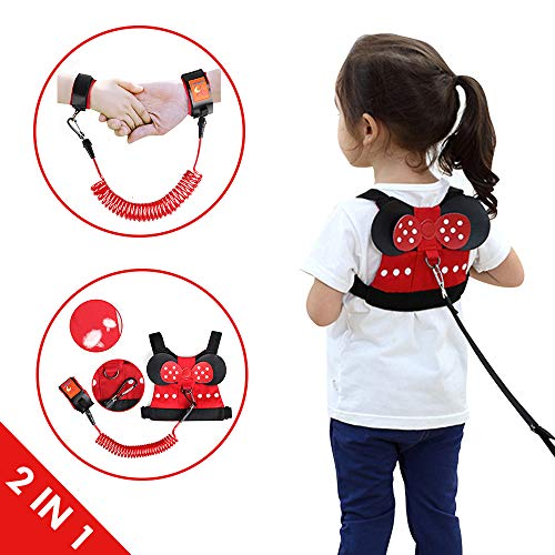 Lehoo Castle Toddler Leash for Walking, Toddler Safety Harnesses Leashes, Safety Harness for Kids, Anti Lost Wrist Link Safety Wrist Link for Toddlers Minnie