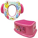 Disney Princess Potty Training Combo Kit - Contour Step Stool & Soft Potty, Pink