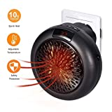Rxment Instaheater Miniture Wall Heater - Portable Outlet Electric Heater Small Personal Space Heater for Office Fan Heater with Adjustable Timer Digital Display (220V-240V, 1000W)