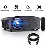 HD Projector, GBTIGER 4000 Lumens LED Video Projector, Full HD 1080p Support, 200' Display Home Theater Movie Projector, Compatible with Fire TV Stick PS4 HDMI USB VGA AV with Free HDMI Cable