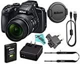 Nikon COOLPIX B700 20.2 MP 60x Opt Zoom Super Telephoto NIKKOR 4K Digital Camera Bundle Set w/ Rechargeable Battery, Charger, Euro Adapter etc (Black)