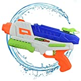 AMGlobal Water Blaster, Super Soaker Blaster, Water Gun, Water Pistol, Squirt Gun With 34 Feet Shooting Distance 33 Ounces Capacity For Kids For Swimming Party Bath Time