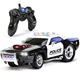 KidiRace RC Remote Control Police Car for Kids, Rechargeable, Durable and Easy to Control