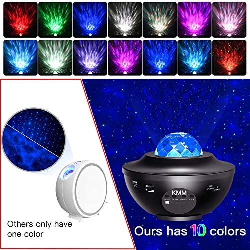 Star Projector,Galaxy Projector,Night Light Projector with LED Galaxy Ocean Projector Bluetooth Music Speaker for Baby Bedroom,Game Rooms,Party,Home Theatre,Night Light Ambiance. 13
