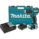 "Makita FD07R1 12V MAX CXT Lithium-Ion Brushless Cordless Driver-Drill Kit, 3/8"""