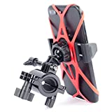 Bike Phone Holder and GoPro Mount for Motorcycle by Tackform Fits Any Smartphone Bike Mount, iPhone 7 6S, 7 Plus Galaxy S7, S7 Edge, S6