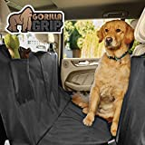 Gorilla Grip Original Premium Waterproof Slip-Resistant Pet Car Seat Protector for Pets, Durable Protectors for Cars, SUV, Truck, Underside Grip, Seat Belt Openings, Pocket, X-Large (Hammock: Black)