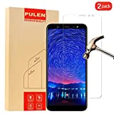 [2-Pack] PULEN Screen Protector for Samsung Galaxy A6+ 2018,HD Clear [Scratch Resistant] [Bubble Free] [Anti-Fingerprints] 9H Hardness Tempered Glass Film for Galaxy A6 Plus 2018