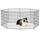 New World Pet Products B552-30 Foldable Exercise Pet Playpen, Black, Medium/24' x 30'