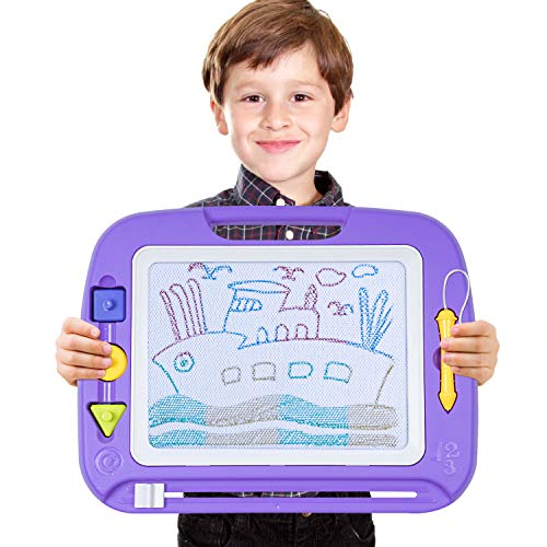 "SGILE Magnetic Drawing Board Toy, 13X17"" Magna Doodles Sketch Erasable Pad for Writing Kids Toddler Boy Girl Painting Learning Birthday Gift Present, Extra Large"