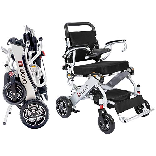 Innuovo N5513A Intelligent lightweight foldable Electric Wheelchair, Compact (Net Weight 50 lbs) Power Chair, Lightweight Folding Carry Electric Wheelchairs, Durable Wheelchair
