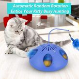 WINGPET-Interactive-Cat-Toys-Automatic-Cat-Teaser-Exerciser-Kitten-Toys-with-Feather-Wand-Spinning-Feather-and-Cat-Ball-Track-Great-for-Cat-Entertainment-Training-or-Hunting