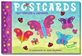 Peaceable Kingdom Butterflies and Ladybugs 12 Postcard Booklet