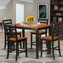 5 Pc counter height pub set – Small Kitchen Table and 4 Kitchen bar stool.