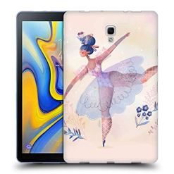 51RB6M431tL - Official Oilikki Ballerina Assorted Designs Soft Gel Case Compatible for Samsung Galaxy Tab A 10.5 2018