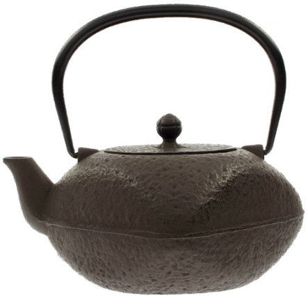 Iwachu Japanese Artisan Iron Tetsubin Square Teapot, 42-Ounce, Antique Brown