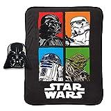 Jay Franco Star Wars Darth Vader Plush Nogginz Pillow 62' x 90' Blanket 2-Piece Set, Black