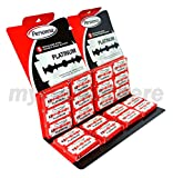 100 New Israeli Red Personna Platinum Stainless Steel Double Edge Razor Blades
