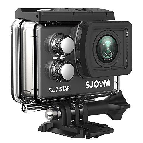 "SJCAM SJ7 Star Wifi Action Camera, 4K@30FPS Ambarella A12 Chipset/2"" TouchScreen/Sony Sensor/ Wireless Remote Control/Gyro Stabilization,Waterproof Underwater Camera with Case Included- Black"
