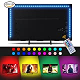 LED Strip Lights, Sunix 6.6ft RGB Bias Lighting for 40-60 inch HDTV,USB LED TV Backlight Kit with Remote - 20 Colors and 4 Dynamic Mode (4pcs x 50cm LED Strips) [Energy Class A+]