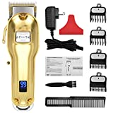 Updated Version Professional Hair Clippers Cordless Haircut Kit USB Rechargeable 2000mAh Hair Beard Trimmer Haircut Grooming kit with 6 Guide Combs & for Men/Father/Husband/Boyfriend