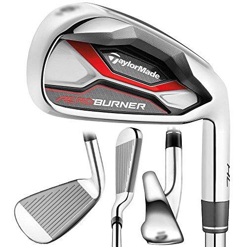 TaylorMade Golf AEROBURNER HL Irons Steel Stiff Flex 4-PW/AW - Right Hand