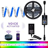 LED Strip Lights, HitLights WiFi Wireless Smart Light Strip Kit, 16.4ft RGB LED Tape Light 5050 Color Changing LED Light Strip Working with Android, iOS System, Alexa and Google Assistant