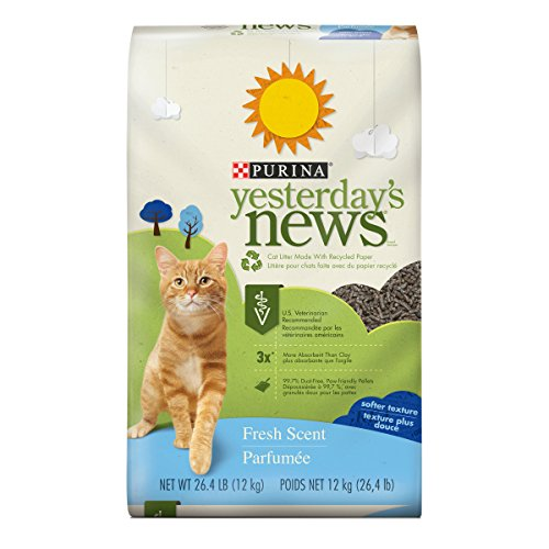 Purina Yesterday's News Non Clumping Paper Cat Litter; Fresh Scent Low Tracking Cat Litter - 26.4 lb. Bag