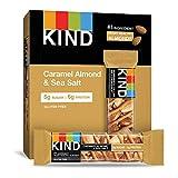 KIND Bars, Caramel Almond & Sea Salt, Gluten Free, Low Sugar, 1.4oz, 12 Count