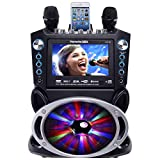 Karaoke GF842 DVD/CDG/MP3G Karaoke System with 7' TFT Color Screen, Record, Bluetooth and LED Sync Lights