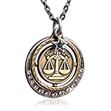 Sweet Romance Libra Zodiac Sign Astrology Pendant Necklace - September and October Birthday Gifts ...