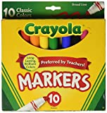 Crayola Broad Line Markers, Classic Colors 10 Each
